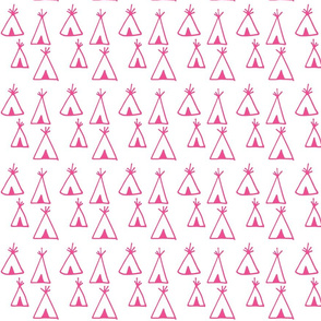 teepee madness. (hot pink)