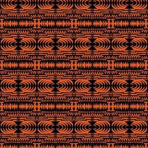 Weaving Orange Black Oblongs