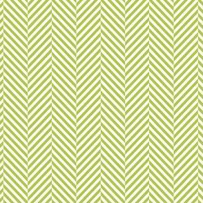 herringbone lime green