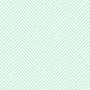herringbone ice mint green