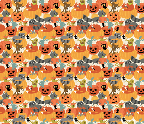 Pumpkin Patch: Wood fabric by sheri_mcculley on Spoonflower - custom fabric