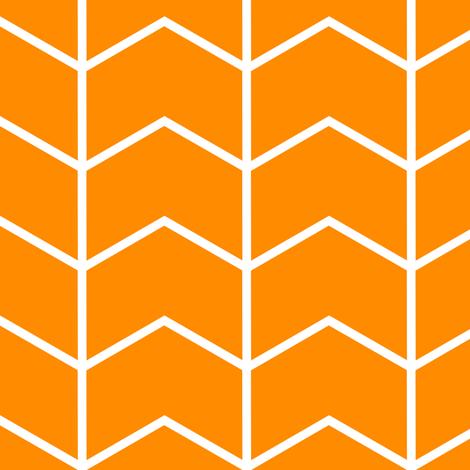 Chevron // orange fabric by littlearrowdesign on Spoonflower - custom fabric