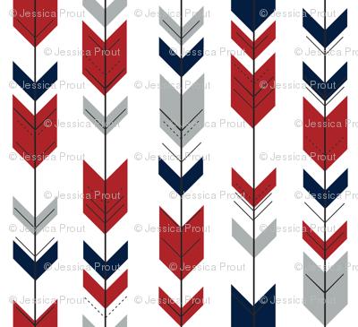 Fletching Arrows // Grey/Red/Navy