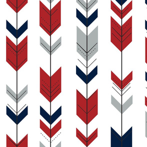 Fletching Arrows // Grey/Red/Navy