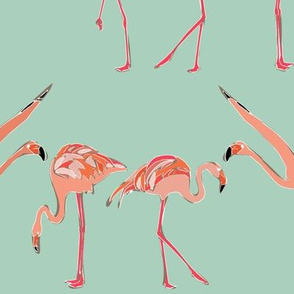 mint flamingos
