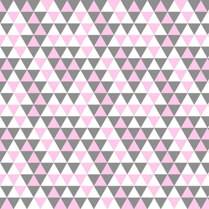 Triangles Pink Grey White - Small