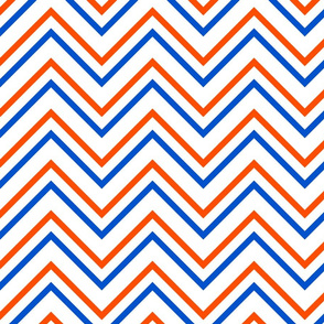 UF Chevron Blue, Orange White