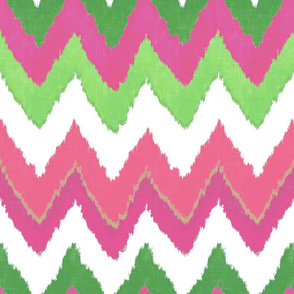 Waterolor Ikat Chevron in Pink Fusion