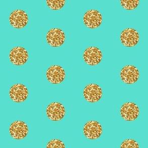 Gold Glitter On Teal Spoonflower