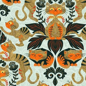damask-cat-pattern