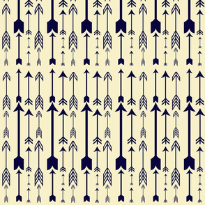 Arrows (Navy and Cream)