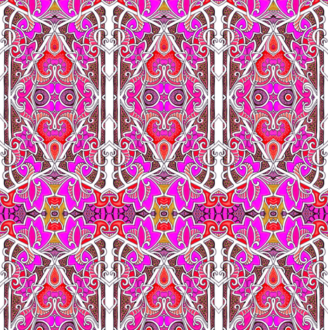 Flower Power Revisited fabric by edsel2084 on Spoonflower - custom fabric