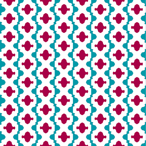 Risë Stripe 1   -Red and Turquoise fabric by fireflower on Spoonflower - custom fabric