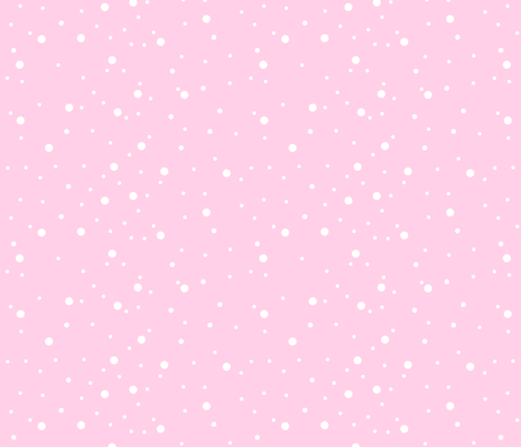 Pink Snow fabric by de-ann_black on Spoonflower - custom fabric