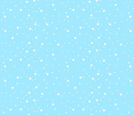 Blue Snow fabric by de-ann_black on Spoonflower - custom fabric
