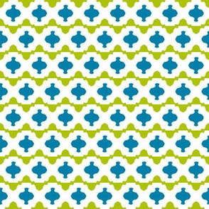 Risë Stripe 2   -Chartreuse and Teal
