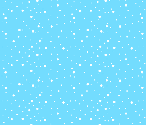 Turquoise Snow fabric by de-ann_black on Spoonflower - custom fabric