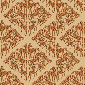 Wooden Arabian horse Damask 2