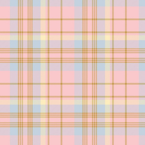Donmaree Tartan ~ Dauphine, Versailles Fog, Trianon Cream and Gilt