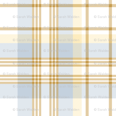 Donmaree Tartan ~  Versailles Fog, Trianon Cream, Gilt and White