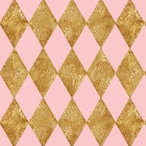 Harlequin Diamonds ~  Dauphine and Gilt Gold