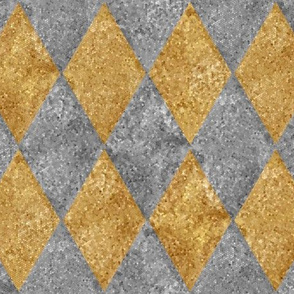 Harlequin Diamonds ~ Silver and Gold ~ Mosaic