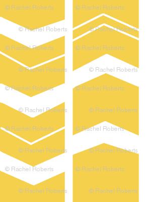 Mod Mustard Chevron - Herringbone
