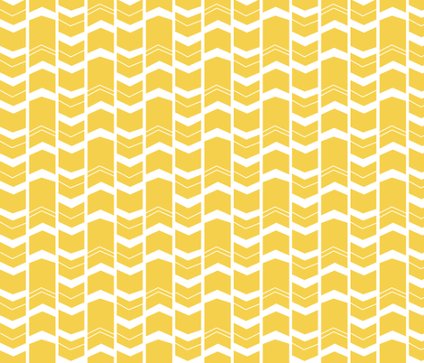 Mod Mustard Chevron - Herringbone fabric by modfox on Spoonflower - custom fabric