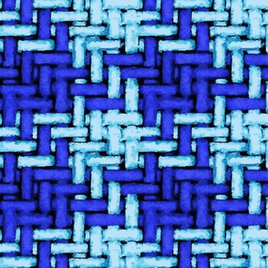 watercolor woven houndstooth in blues