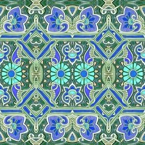 Wallflower Seranade (blue/green)