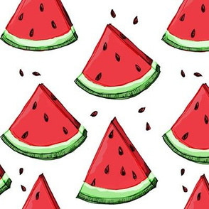 Watermelon on white (no texture)