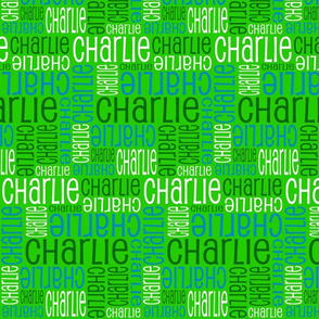 Personalised Name Design - Greens and Blue