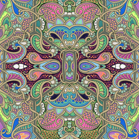 Alice, Are You Going to Eat That Whole Mushroom? fabric by edsel2084 on Spoonflower - custom fabric