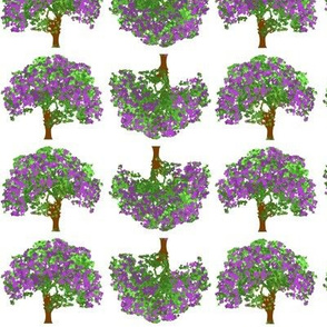 Happy Trees Purple Flowers