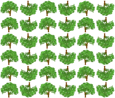 Happy Green Trees fabric by ottdesigns on Spoonflower - custom fabric
