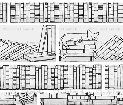 Library Cat- swatch size