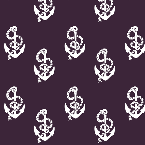 Anchors Burgundy fabric by janinez on Spoonflower - custom fabric
