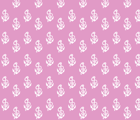 Anchors Pink fabric by janinez on Spoonflower - custom fabric