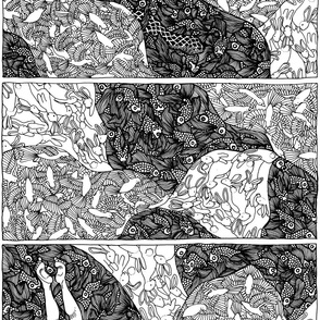 Panel cascade pattern