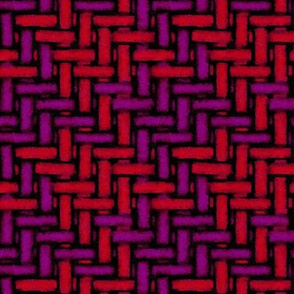 Watercolor woven houndstooth -- burgundy and claret