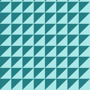 triangles petrol aquamarine