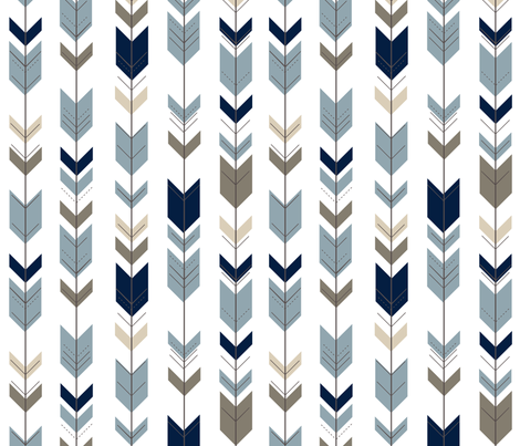 Fletching Arrows // Rustic Woods Collection fabric by littlearrowdesign on Spoonflower - custom fabric
