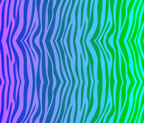 Weird Zebra Stripes fabric by weirdzebra on Spoonflower - custom fabric