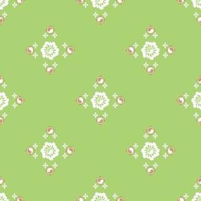 Flower Garden in Green
