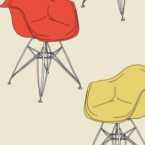 Eames: Armchair DAR, 1950