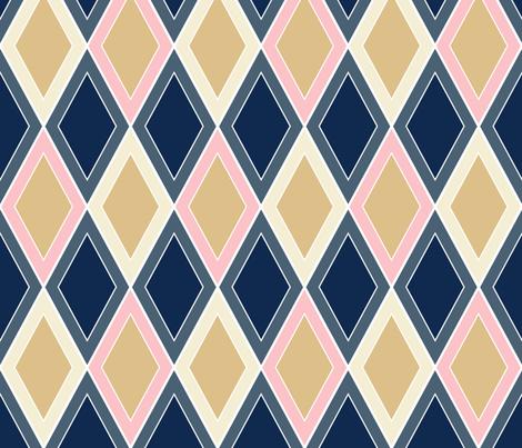 Preppy Diamonds Jumbo fabric by beththompsonart on Spoonflower - custom fabric