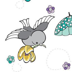 Lemon Birds & Umbrellas