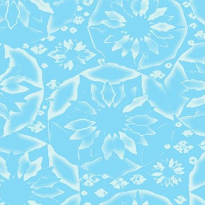 Circle of Flowers in Blue