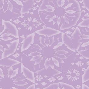 Circle of Flowers in Purple