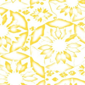 Circle of Flowers in Yellow